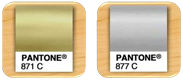 Pantone Gold/Silver